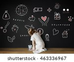 donations charity foundation... | Shutterstock . vector #463336967