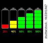 battery charge status | Shutterstock .eps vector #463341467