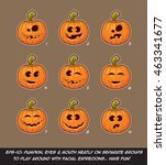 vector icons of jack o lantern... | Shutterstock .eps vector #463341677