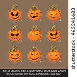vector icons of jack o lantern... | Shutterstock .eps vector #463341683