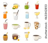 vector cartoon non alcoholic... | Shutterstock .eps vector #463342853