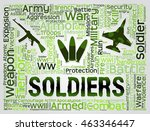 soldiers words indicating... | Shutterstock . vector #463346447