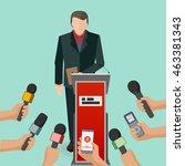 business or politics interview... | Shutterstock .eps vector #463381343