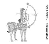 doodle design of centaur girl... | Shutterstock .eps vector #463391123