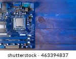 top view of the motherboard... | Shutterstock . vector #463394837