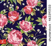 beautiful seamless pattern with ... | Shutterstock .eps vector #463395533