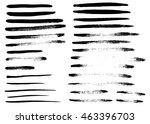 set of different grunge brush... | Shutterstock . vector #463396703