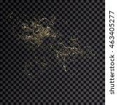 splash gold 3d transparent... | Shutterstock . vector #463405277
