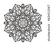vector beautiful mandala.... | Shutterstock .eps vector #463411067