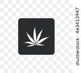 icon marijuana leaf. | Shutterstock .eps vector #463413947