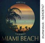 miami beach surf club concept...   Shutterstock .eps vector #463428767