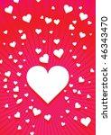 valentine background 3 | Shutterstock .eps vector #46343470