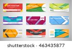 set big gift vouchers of values.... | Shutterstock .eps vector #463435877