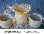 handmade baskets made from... | Shutterstock . vector #463438913