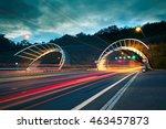 Traffic At Night. Lights Of Th...