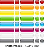 Blank Web Buttons. Vector...