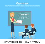 kids grammar teaching concept... | Shutterstock .eps vector #463479893