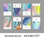 set of artistic creative... | Shutterstock .eps vector #463482707