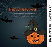halloween   banner happy... | Shutterstock .eps vector #463495817
