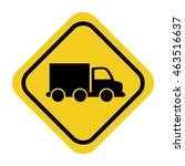 rhombus signal with vehicle... | Shutterstock .eps vector #463516637