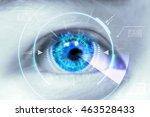 close up eyes of technologies... | Shutterstock . vector #463528433