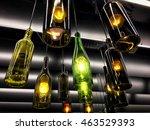beautiful retro light lamp... | Shutterstock . vector #463529393