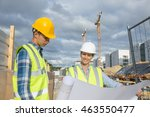 view of a engineer and worker... | Shutterstock . vector #463550477