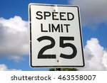 speed limit 25 mph sign on a... | Shutterstock . vector #463558007
