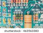 closeup electronic hardware ...   Shutterstock . vector #463563383