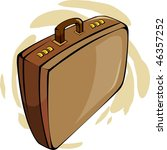 illustration of brown suitcase  | Shutterstock . vector #46357252