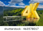 ultra hd tv with a view of the... | Shutterstock . vector #463578017