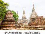 wat phra si sanphet  ayutthaya... | Shutterstock . vector #463592867