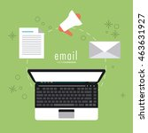 email concept represented by... | Shutterstock .eps vector #463631927