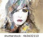 portrait. abstract illustration | Shutterstock . vector #463632113