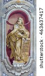 Small photo of BRESCIA, ITALY - MAY 23, 2016: The fresco of prophet Ezekiel of Chiesa di Sant'Afra church by Sante Cattaneo (1739 - 1819)