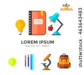 vector back to school icons set.... | Shutterstock .eps vector #463643483