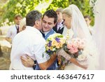 greeting from guests after the... | Shutterstock . vector #463647617