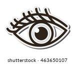 flat design single eye icon...
