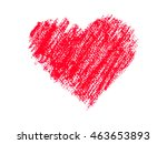 oil pastels color drawing a red ... | Shutterstock . vector #463653893