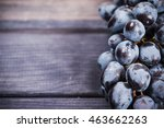 Bunch Of Black Grapes Close Up...