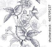 black and white vector...   Shutterstock .eps vector #463709237