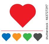 Heart Shape Vector Icon Eps 10...
