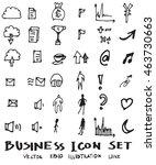 business doodles sketch vector... | Shutterstock .eps vector #463730663