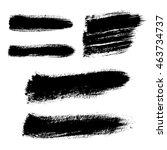 mascara brush stroke. vector... | Shutterstock .eps vector #463734737