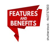 features and benefits red... | Shutterstock .eps vector #463737803