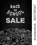 back to school sale flyer... | Shutterstock .eps vector #463739267