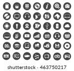 multimedia symbols  sound... | Shutterstock .eps vector #463750217