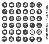 financial service icons ... | Shutterstock .eps vector #463754387