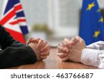 negotiation of great britain... | Shutterstock . vector #463766687