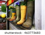 Wellington Boots Forming A...